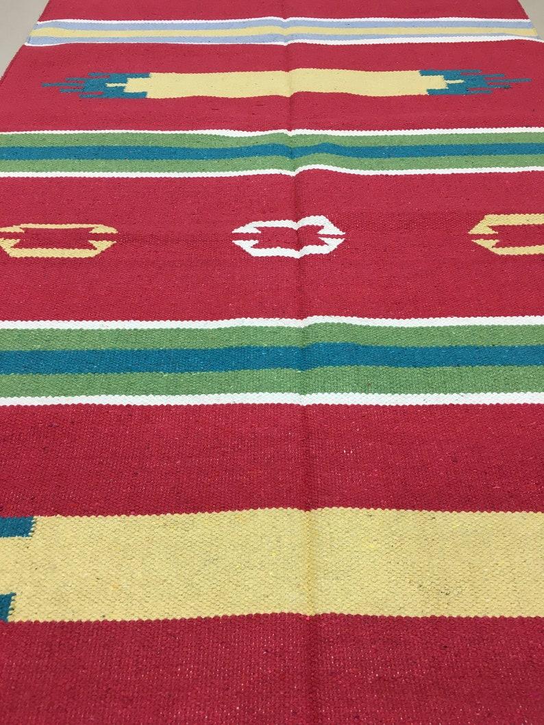 Cotton rugHandmade rugKilimIndian DhurrieFloor rugPicnic rugFloor rugBlock print rugYoga rugBed side rugMeditation rugIndian rug