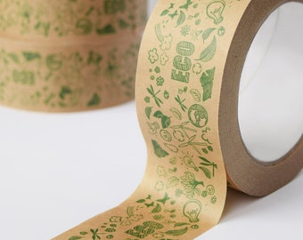 Eco-friendly kraft paper tape, Self-adhesive packaging tape, Recyclable zero waste eCommerce packing