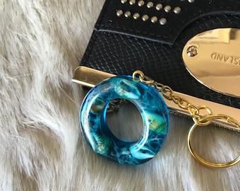 Moss Aquamarine Rondelles Dark Blue Aquamarine MicroFaceted 8.2mm to 8.7mm ONE Loose Bead Deep Teal Blue Ocean Gemstone Rondelles KJ