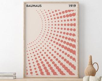 Bauhaus Art Print, Exhibition Poster, Affiche Bauhaus, Bauhaus Poster, Museum Poster, Digital Prints, Walter Gropius, Bauhaus Decor