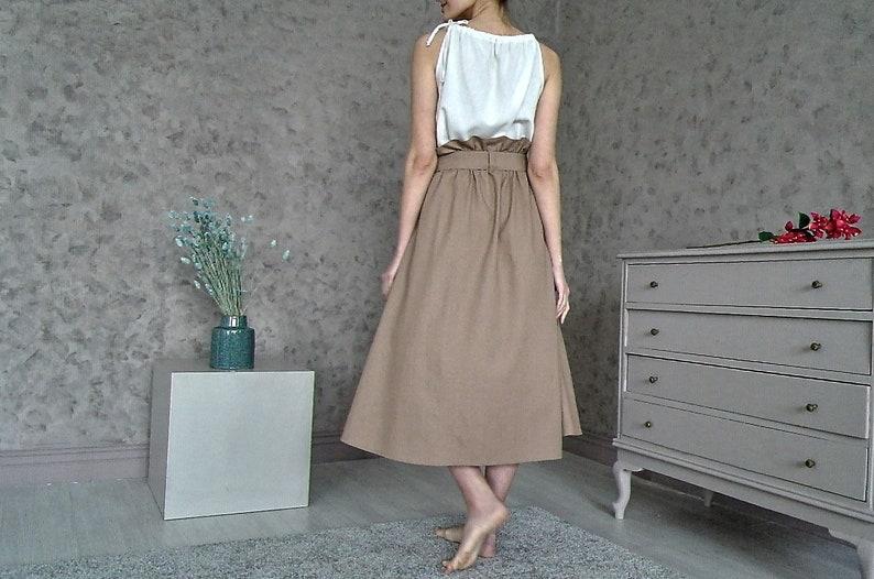 Women/'s skirt Long linen skirt Natural linen skirt Casual skirt organic linen LINEN SKIRT High-waist linen skirt Organic flax skirt