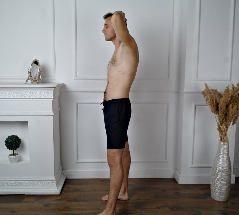 Organic Flax shorts MEN/'S LINEN SHORTS Linen shorts men Short shorts Beach shorts Shorts for men Natural linen shorts Basic shorts
