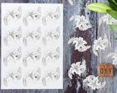 Lily Laser Cut Flowers (Sheet of 12) - Decorative Flowers for Card Making and DIY wedding invitations - Decoupage