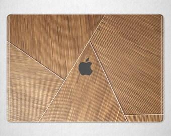 Wood Geometry Retina 15 inch Bamboo Roof Mac Pro 13 Hard Case MacBook 2017 Cover Pro 16 Case Mac Book 11 Case Laptop Cover Mac Book 12 inch