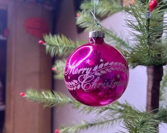 1960s Shiny Brite Glass Blown Ornament