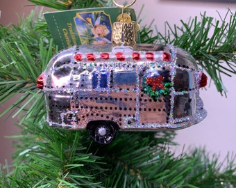 Old World Christmas Airstream Trailer Ornament!