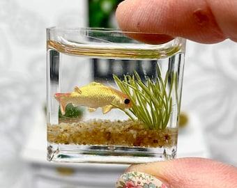 Dollhouse Miniature Fish Tank / Fish Bowl