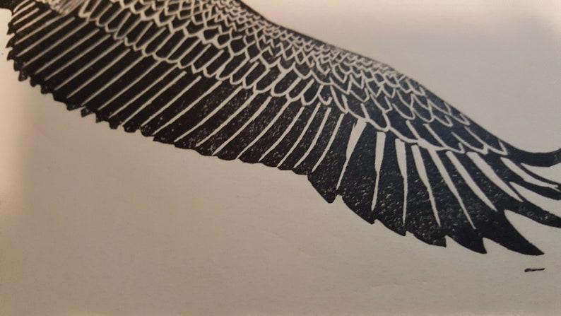 Pelican Original hand pulled linocut print