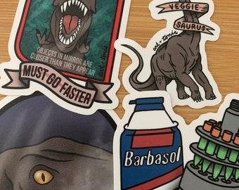 Jurassic Park stickers- series II