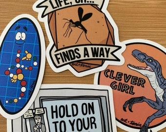 Jurassic Park stickers- series I
