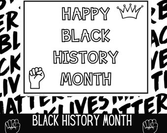 Month Coloring Page Etsy