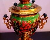 Tula Russian Hand Painted Khokhloma Samovar Electric Tea Kettle