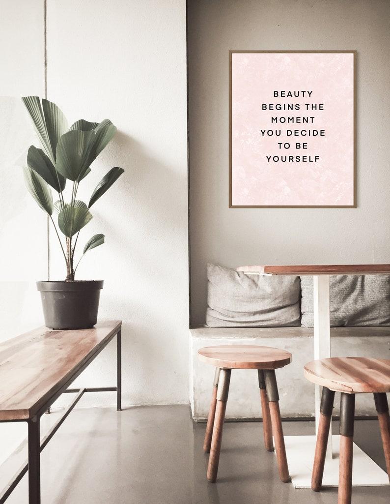 Home Decor Fashion Wall Print Quote Wall Print Self Love Quote Wall Decor