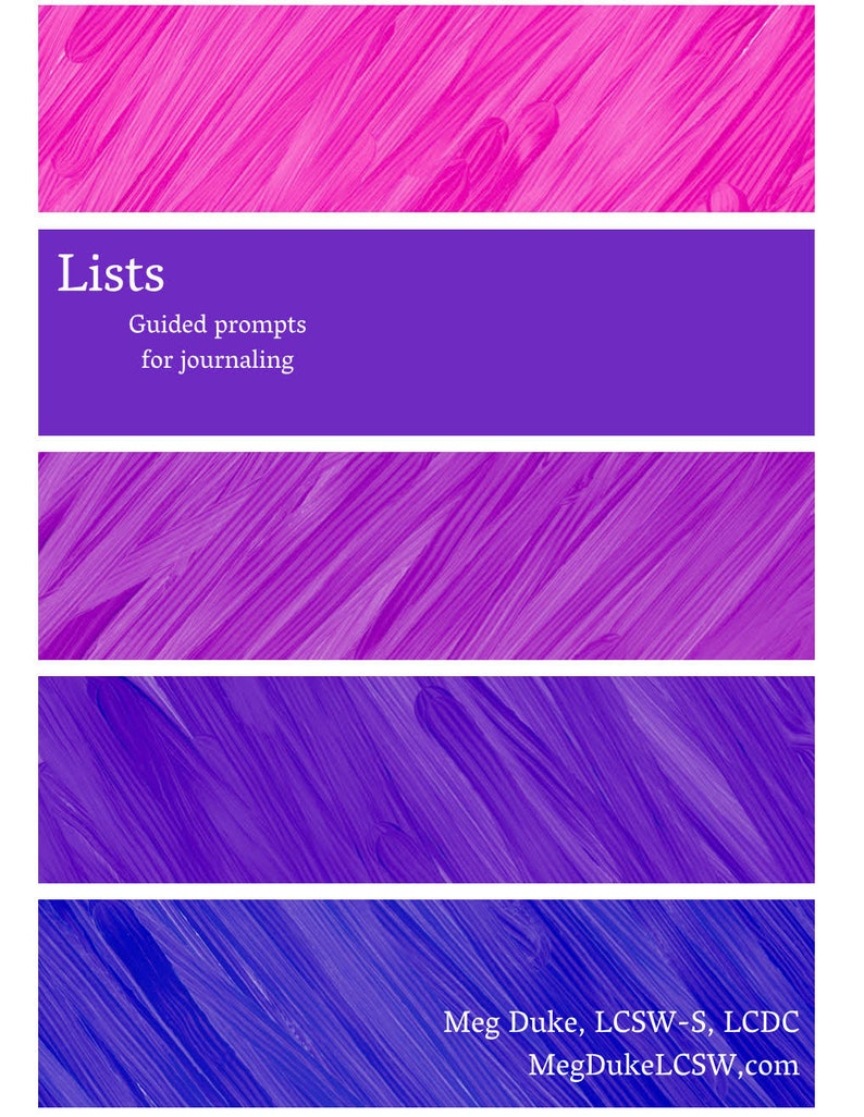 Lists  Guided prompts for journaling image 0