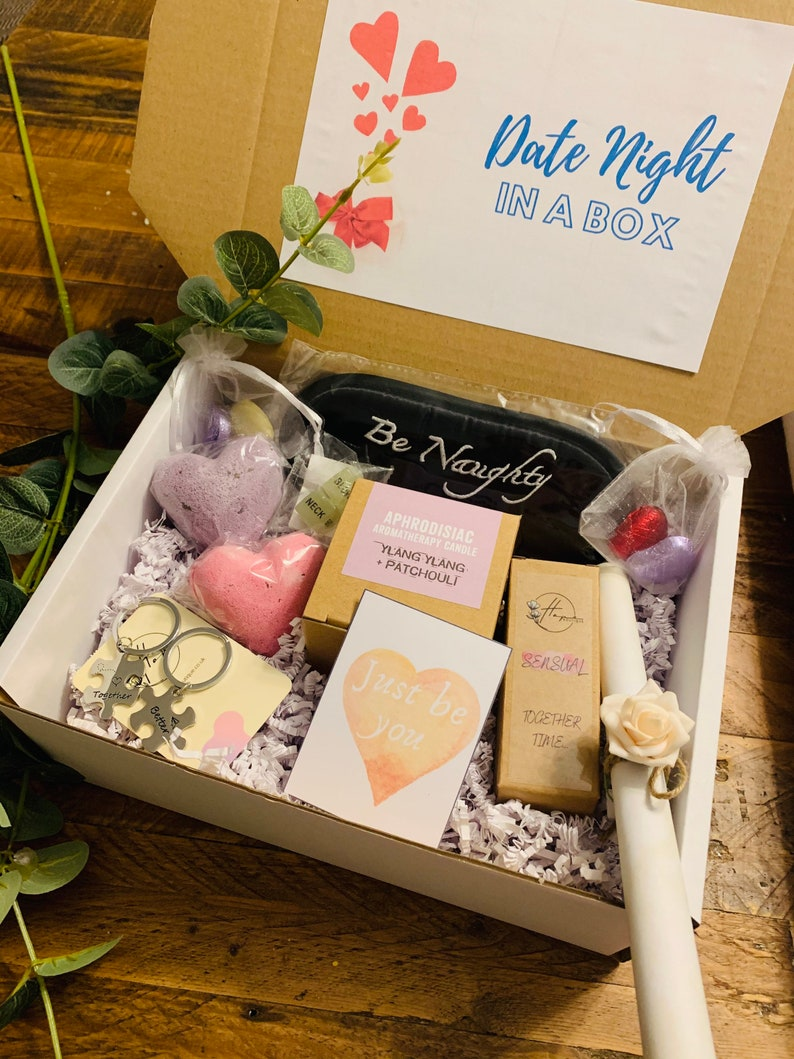 Valentine's Day Gift Ideas - Date night in a box gift idea