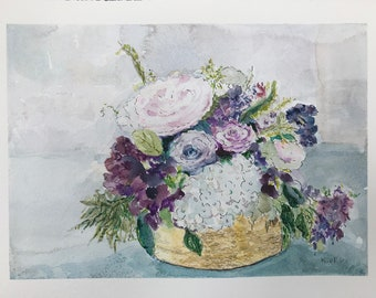 Flowers (Study #Two), Watercolor Painting