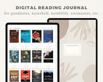 Digital Reading Journal | Digital Reading Planner | Digital Journal | Digital Reading Tracker | Digital Reading Log | Digital Book Planner