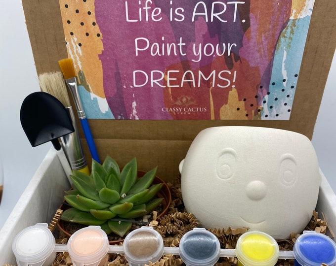 Plant Buddy Succulent Gift Box - Paint your dreams
