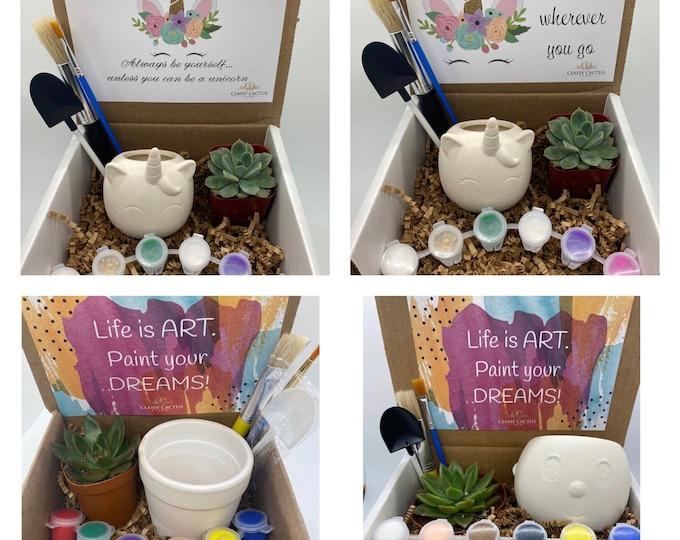 DYI Succulent Planter Gift Box Bundle - Pick 3