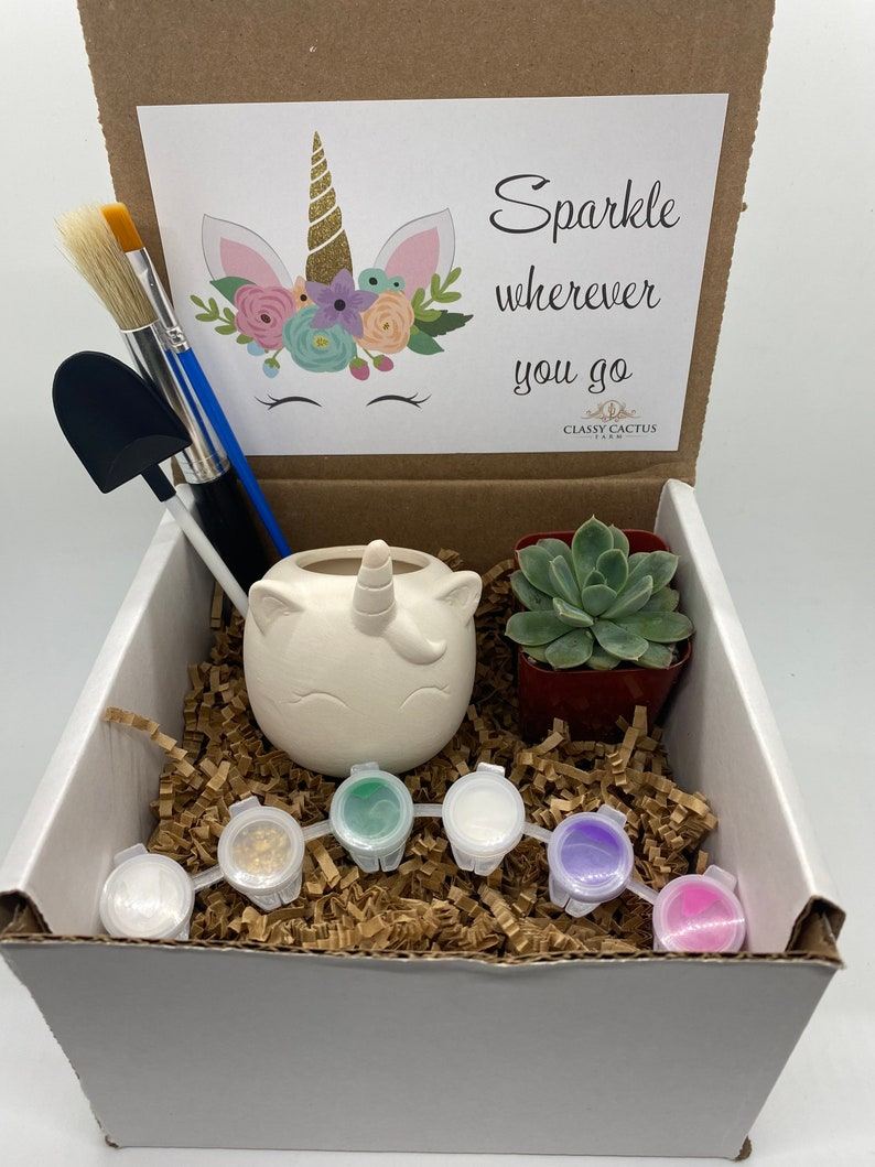 Sparkle Kids Unicorn Succulent Gift Box