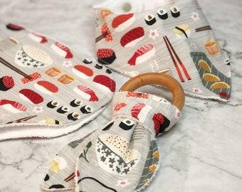 Sushi Burp Cloth