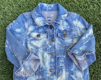 2T bleached distressed destroyed kids jeans