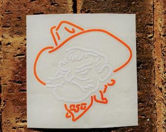 Oklahoma State Cowboys Pistol Pete Head Vinyl Decal