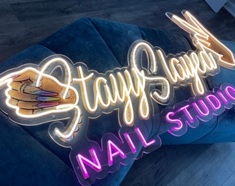 LED Neon Sign, Neon Business Sign, Custom Neon Logo, Wedding Neon Sign, Salon Neon Sign