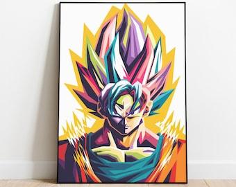 Kunst Malerei Bild Gemälde Canvas Drucken Art Wandtuch Poster Dragon Ball 001#
