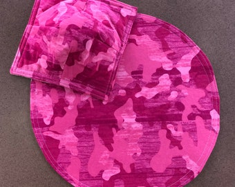 Blue Custom Placemat Personalized with Child/'s Name Green Camouflage Placemat Pink Camo Brown You choose colors
