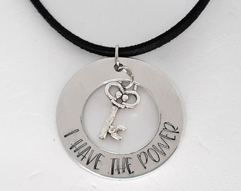 I Have the Power Necklace - Hand Stamped