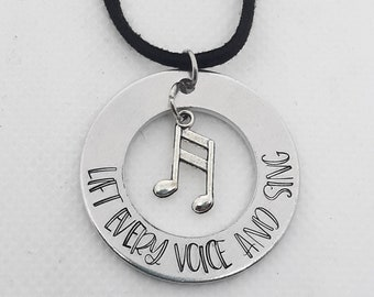 Lift Every Voice and Sing Pendant Necklace