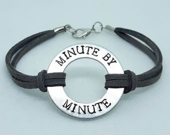 Minute By Minute Washer Bracelet
