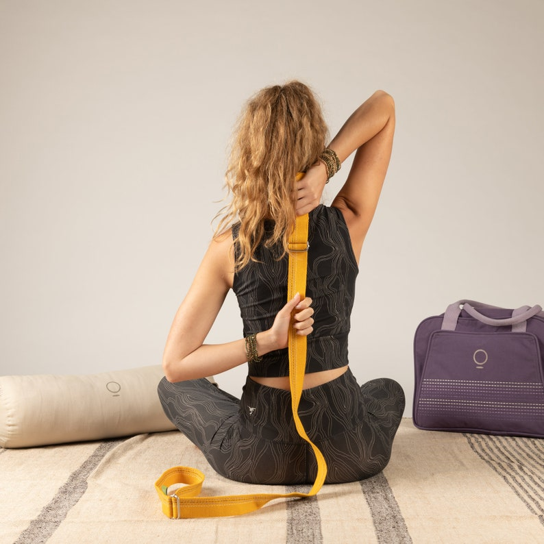 The Slingy Strap Ananas Yellow Yoga strap Sling Mat image 0