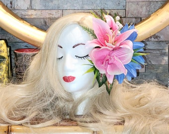True Romance Lily/Dahlia Hairclip for VLV Pinup Tiki Oasis Tiki Caliente
