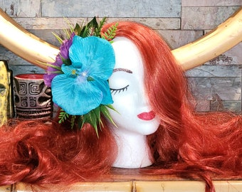 Royal Lagoon #1 Orchid/Hibiscus Clip for Tiki Oasis Caliente Pinup VLV