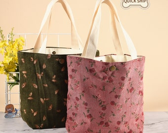 Floral Canvas Bag  Botanical Tote  Succulent Print Tote  Pink Floral Bag  Handmade Canvas Bag  Gift for mother  Australian Made