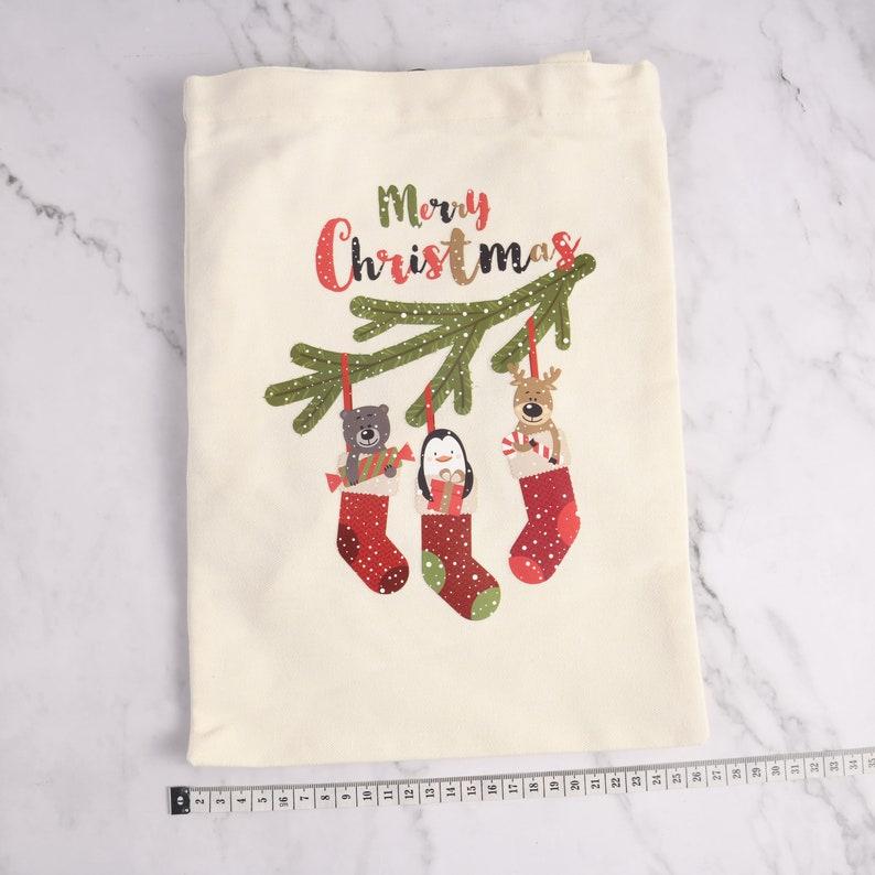 Penguin Funny Christmas Tote Bag Holiday Gift Bag Cute Xmas Gifts Canvas Tote Bag Holiday Totes Merry Christmas Elk Christmas Gift Bag