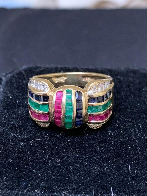 Cocktail Ring, Gemstone Ring, Birthstone Rings, 14