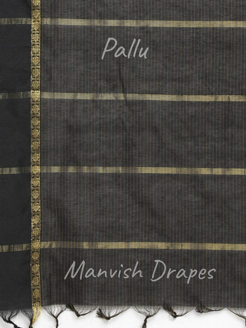 Gadwal Silk Cotton Drape with Checks all over the Body.