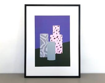 Vases terrazzo | A4 STILL LIFE PRINT