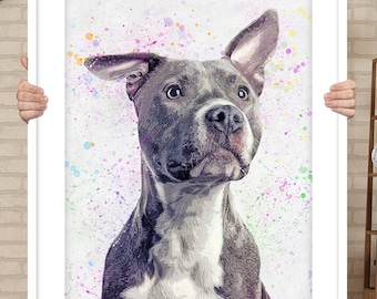 Custom Pet Portrait In Memory Of Dog Pet Memorial Gift For Pet Lovers  Memorial Gift Loss Of Dog Loss Pet Sympathy Gift, DIGITAL FILE