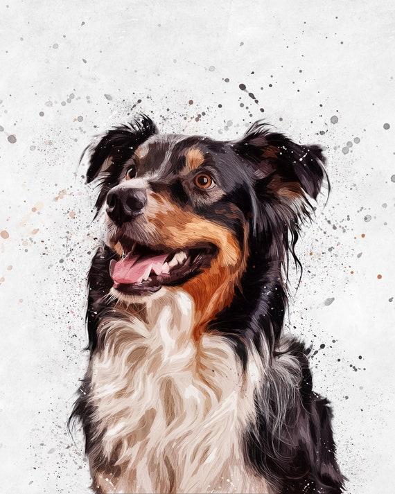 Custom pet portrait,pet painting,unique gifts,peekaboo portrait,custom pet memorial,custom dog portrait,personalized portrait,dog,cat