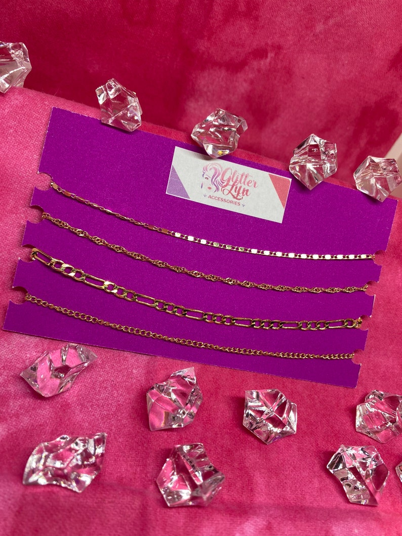 Anklet Simple Glitterlyn Jewelries 4 Pieces