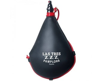 Suprema Spanish Bota Bag - Handmade Leather Wineskin From Goat Skin For Beverages | Traditional Liquid Container For Outdoor Activities
