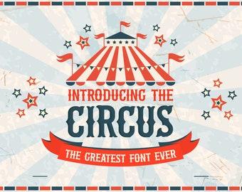 Fonts, Circus Fonts, Carnival Fonts, Craft Fonts, Crafters Fonts, Fonts for Commercial Use, Fonts for SVGs, Cute Fonts, Cricut Fonts