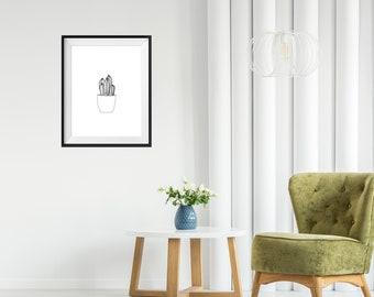 Art Print - Cactus Plant
