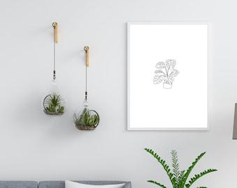 Art Print - Monstera Plant