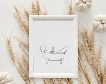 Art Print - Wine in the Bath