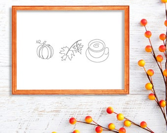 Fall Art Print - Pumpkin Spice Latte Season
